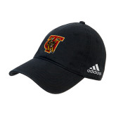 Adidas Black Slouch Unstructured Low Profile Hat-TU Warrior Symbol