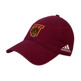 Adidas Maroon Slouch Unstructured Low Profile Hat-TU Warrior Symbol