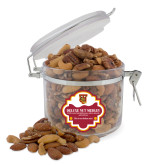 Deluxe Nut Medley Round Canister-TU Warrior Symbol