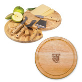 10.2 Inch Circo Cheese Board Set-TU Warrior Symbol Engraved