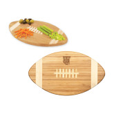 Touchdown Football Cutting Board-TU Warrior Symbol Engraved