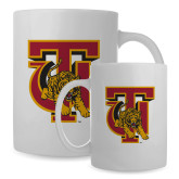 Full Color White Mug 15oz-TU Warrior Symbol