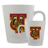 Full Color Latte Mug 12oz-TU Warrior Symbol