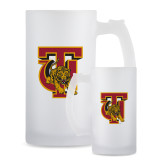 Full Color Decorative Frosted Glass Mug 16oz-TU Warrior Symbol