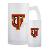 Full Color Decorative Frosted Glass Mug 16oz-Interlocking TU