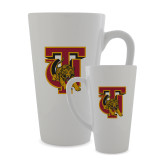 Full Color Latte Mug 17oz-TU Warrior Symbol