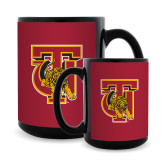 Full Color Black Mug 15oz-TU Warrior Symbol