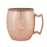 Copper Mug 16oz-TU Warrior Symbol Engraved