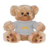 Plush Big Paw 8 1/2 inch Brown Bear w/Grey Shirt-Arched Tuskegee