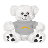 Plush Big Paw 8 1/2 inch White Bear w/Grey Shirt-Arched Tuskegee