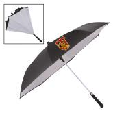 48 Inch Auto Open Black/White Inversion Umbrella-TU Warrior Symbol