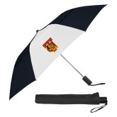 42 Inch Slim Stick Black/White Vented Umbrella-TU Warrior Symbol