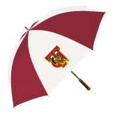 62 Inch Cardinal/White Umbrella-TU Warrior Symbol
