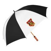 64 Inch Black/Whit Umbrella-TU Warrior Symbol