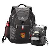 High Sierra Big Wig Black Compu Backpack-TU Warrior Symbol