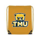 Gold Drawstring Backpack-Primary Logo