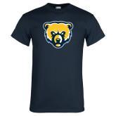 Navy T Shirt-Bear Head