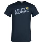 Navy T Shirt-Truett McConnell Slanted Slashed