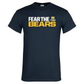 Navy T Shirt-Fear The Bears