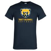 Navy T Shirt-Softball
