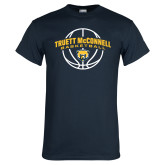 Navy T Shirt-Truett McConnell Basketball Arched