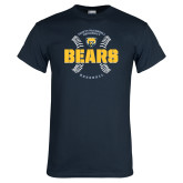 Navy T Shirt-Bears Baseball Seams