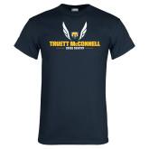 Navy T Shirt-Truett McConnell Cross Country Wings