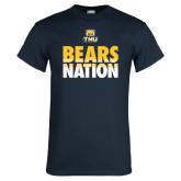 Navy T Shirt-Bears Nation