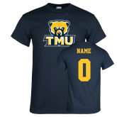 Navy T Shirt-Primary Logo, Custom Tee w/ Name and #
