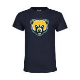 Youth Navy T Shirt-Bear Head