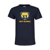 Youth Navy T Shirt-Bear Head Truett McConnell