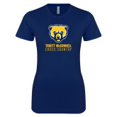 Next Level Ladies SoftStyle Junior Fitted Navy Tee-Cross Country
