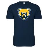Next Level SoftStyle Navy T Shirt-Bear Head