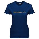 Ladies Navy T Shirt-Truett McConnell Bears