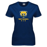 Ladies Navy T Shirt-Mom