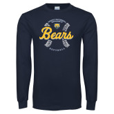 Navy Long Sleeve T Shirt-Bears Softball Seams