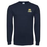 Navy Long Sleeve T Shirt-Primary Logo