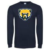 Navy Long Sleeve T Shirt-Bear Head