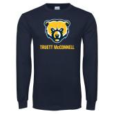 Navy Long Sleeve T Shirt-Bear Head Truett McConnell