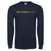 Navy Long Sleeve T Shirt-Truett McConnell Bears