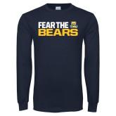 Navy Long Sleeve T Shirt-Fear The Bears