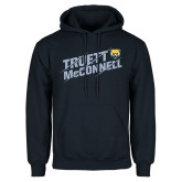 Navy Fleece Hood-Truett McConnell Slanted Slashed