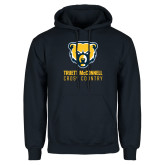 Navy Fleece Hood-Cross Country