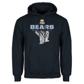 Navy Fleece Hood-Bears Basketball Hanging Net