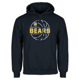 Navy Fleece Hood-Bears Basketball Lined Ball