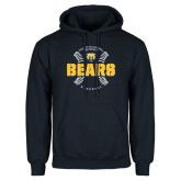 Navy Fleece Hood-Bears Baseball Seams