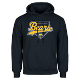 Navy Fleece Hood-Bears Baseball Plate