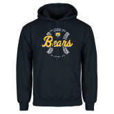 Navy Fleece Hood-Bears Softball Seams