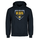 Navy Fleece Hood-Bears Softball Plate