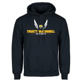 Navy Fleece Hood-Truett McConnell Cross Country Wings